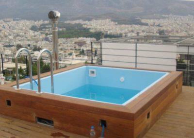Μικρές πισίνες-Η λύση για πισίνα στη ταράτσα
