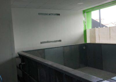 Προκάτ πισίνα-Μοντάρισμα ειδικών πάνελ τοιχίων